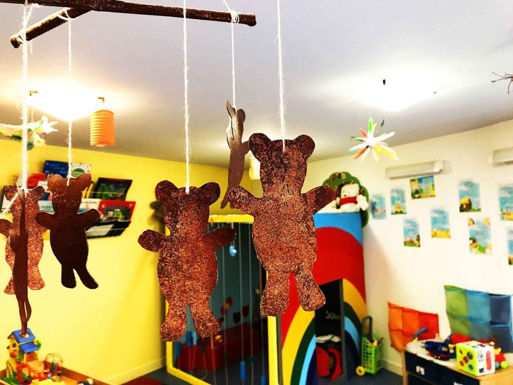 Une décoration ourson faite par les petits